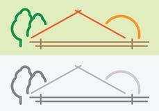 农厂房子标志 向量例证