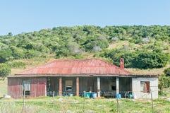 农厂房子的废墟 免版税库存图片