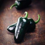 农厂新鲜的有机墨西哥胡椒 库存照片