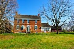 农厂有历史的房子 库存图片