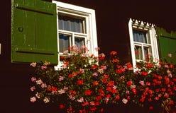 农厂木房子ld的视窗 库存图片