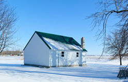 农厂棚子冬天 免版税库存照片