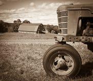 农厂横向葡萄酒 免版税库存图片