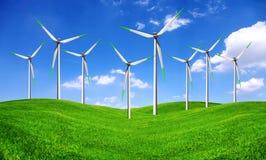 农厂涡轮风 库存图片