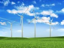 农厂涡轮风 向量例证