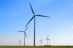 农厂涡轮风 库存照片