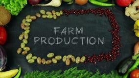 农厂生产果子停止运动 库存图片