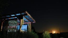 农厂立场夜 免版税库存照片