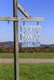 农厂立场标志 库存图片