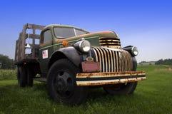 农厂老卡车葡萄酒 库存照片