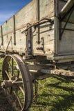 农厂老无盖货车 免版税库存图片