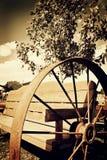 农厂长凳 库存图片