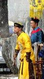 农历新年在Yuanmingyuan皇家庭院里 免版税库存图片
