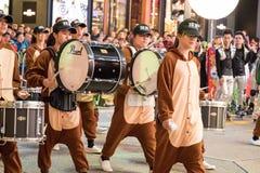 农历新年夜游行 免版税库存图片