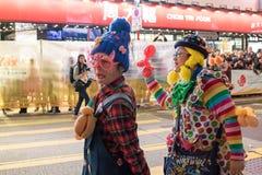 农历新年夜游行 免版税图库摄影