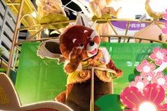 农历新年夜游行 免版税库存照片