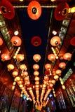 2016年农历新年寺庙市场和灯会在成都 免版税库存图片