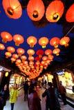 2016年农历新年寺庙市场和灯会在成都 库存照片