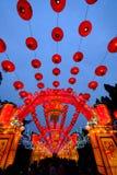 2016年农历新年寺庙市场和灯会在成都 免版税图库摄影