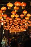 2014年农历新年寺庙市场和灯会 免版税图库摄影