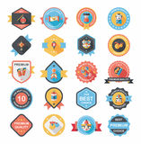 农历新年徽章平的横幅设计背景集合, eps10 免版税库存图片