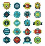 农历新年徽章平的横幅设计背景集合, eps10 图库摄影