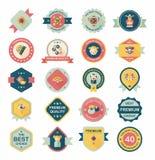 农历新年徽章平的横幅设计背景集合, eps10 免版税图库摄影