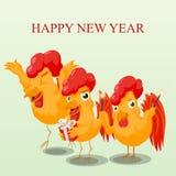 农历新年的逗人喜爱的字符 库存照片