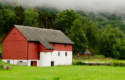 农场在挪威 图库摄影
