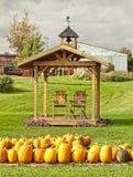 农场在秋天 库存照片