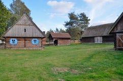 农场在露天博物馆在奥尔什蒂内克(波兰) 免版税图库摄影