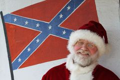 农场工人圣诞老人 库存照片