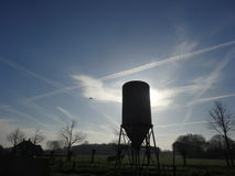 从农场的天空 免版税库存照片