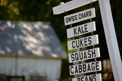 农场的标志在NH站立 免版税库存图片
