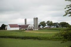 农场的风景看法在门诺派中的严紧派的国家,宾夕法尼亚 免版税库存图片