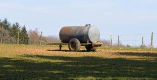 农场的水储水池 免版税库存照片