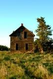 农场被困扰的房子 免版税库存图片