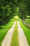 农场马路 免版税库存图片