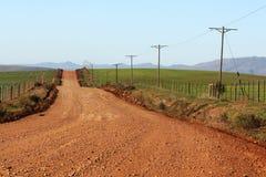 农场马路 库存照片