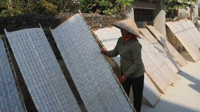 农夫传统上做了宣纸干燥 股票录像