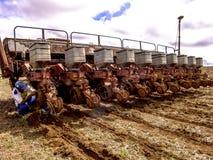 农夫准备机器 免版税库存图片
