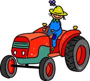 农夫孩子 向量例证