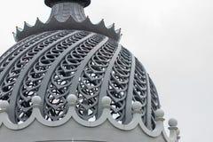 农夫宫殿的被雕刻的圆顶  免版税库存照片