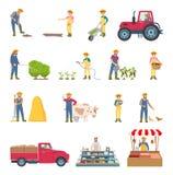 农夫工作农业集合传染媒介例证 库存例证