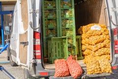 农夫市场的新鲜蔬菜 免版税图库摄影
