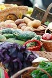 农夫市场蔬菜 免版税库存照片