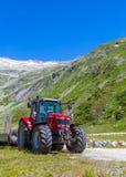 农夫拖拉机 免版税库存图片