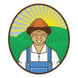 农夫收获 库存照片