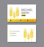 农夫的名片 麦子 免版税库存照片