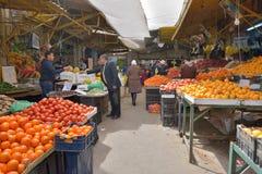 农夫的市场在阿曼,约旦 库存照片